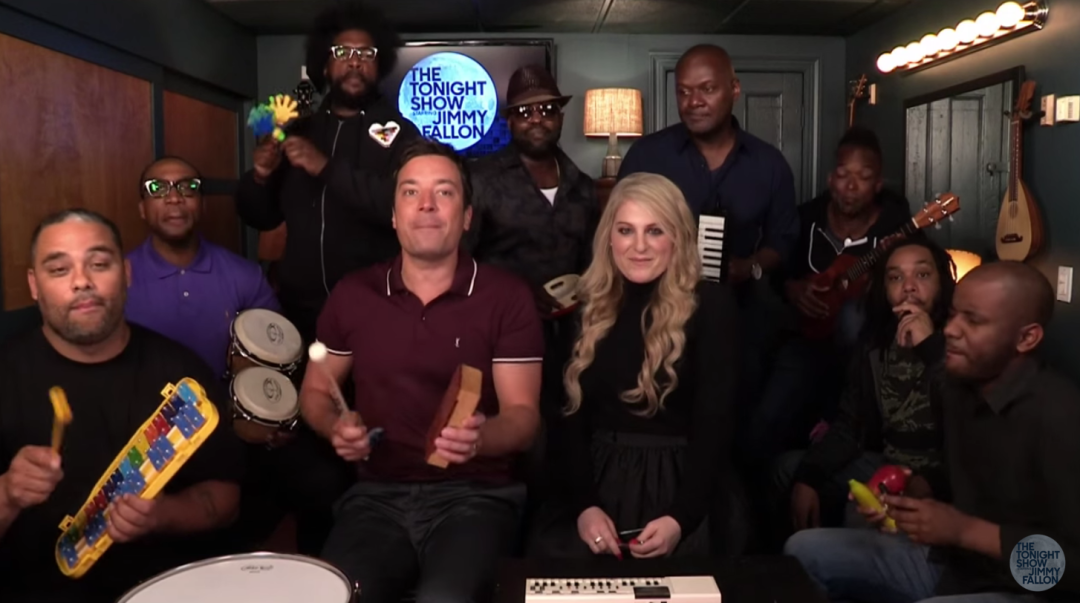Jimmy fallon and Meghan Trainor