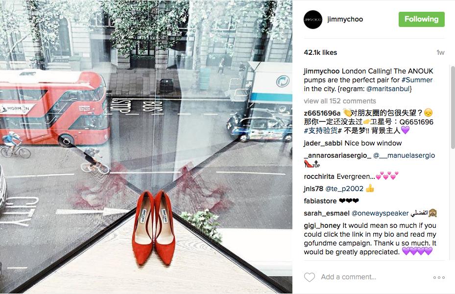 Jimmy Choo on Instagram