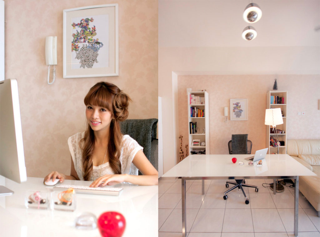 blogger home offices - cheeserland